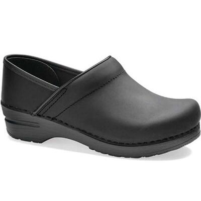 Dansko Professional Oiled Black Ladies Clog