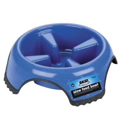 Skid Stop Slow Feed Pet Bowl Large
