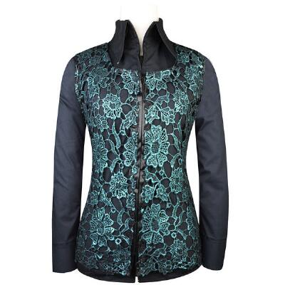 Rosie Teal Metallic Ladies Western Show Vest
