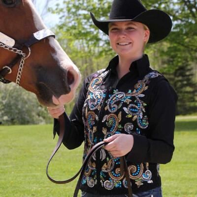 Paisley Hand Embroidered Ladies Show Vest
