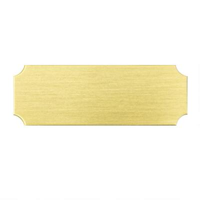 Decorative Adhesive Name Plate Small Brass