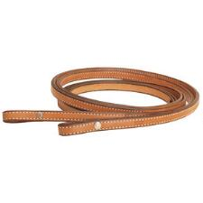 Tory Leather Reins Double Stitched Chicago Screw - TB