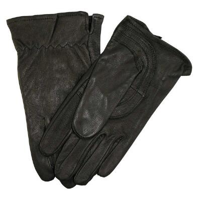 Goatskin Work Glove Ladies - Black