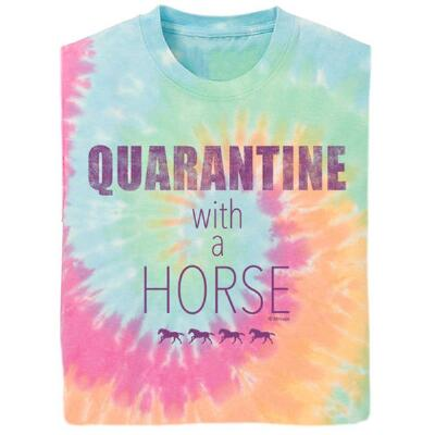 Stirrups Quarantine with a Horse Short Sleeve Girls Tee
