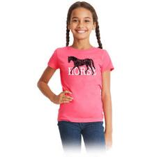 Stirrups Horse Short Sleeve Girls Tee - TB