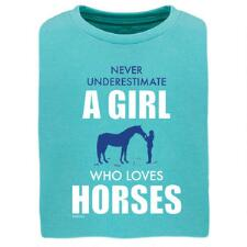 Stirrups Never Underestimate Short Sleeve Girls Tee - TB