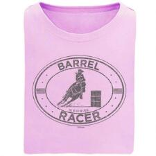 Stirrups Barrel Racer Short Sleeve Girls Tee - TB