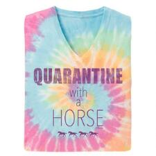 Stirrups Quarantine with a Horse Short Sleeve Ladies Tee - TB