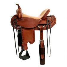 Dakota Saddlery Draft Trail Saddle 17 inch Seat - TB