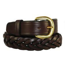 Plain Braided Leather Unisex Belt - TB