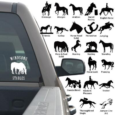 Decal 4 in Horse Logo And Lettering