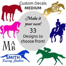 Window Decal 4 in Horse Logo And Lettering