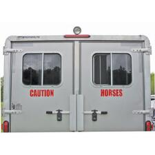 Caution Horses Decal Reflective - TB