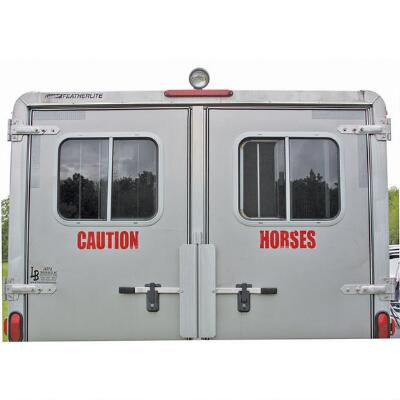 Caution Horses Decal Reflective