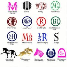 Personalized Helmet Monogram Decal - TB