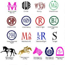 Personalized Monogram Decal - TB