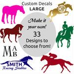 Decal 6 in Horse Logo And Lettering - TB