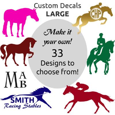 Window Decal 6 in Horse Logo And Lettering