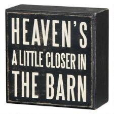 Heavens A Little Closer in the Barn Box Sign - TB