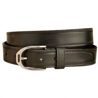Plain English Stirrup 1.25 Inch Black Unisex Belt