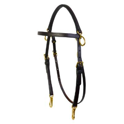 Double Stitched Deluxe Arabian Training Bridle with Siderings