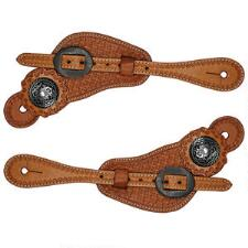 Basketweave Unisex Leather Western Spur Strap - TB