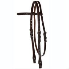 Circle Y Floral Tooled Browband Headstall - TB