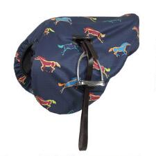 Shires Waterproof Horse Print English Saddle Cover - TB