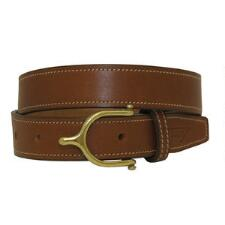 English Spur Buckle 1 Inch Oakbark Unisex Belt - TB