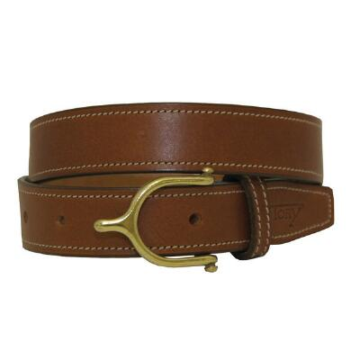 English Spur Buckle 1 Inch Oakbark Unisex Belt