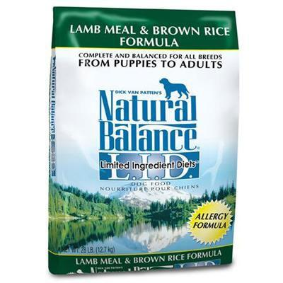 Natural Balance LID Lamb Meal and Brown Rice Formula 26 lb