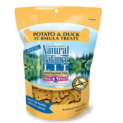 Natural Balance LIT Potato and Duck Small Breed Treats 8 oz