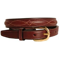 Raised Fancy Stitch .75 Inch Havana Unisex Belt - TB