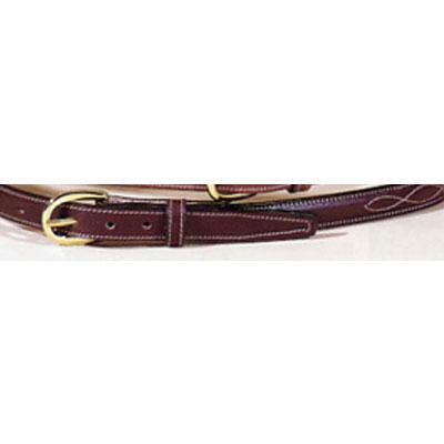 Raised Fancy Stitch .75 Inch Oakbark Unisex Belt