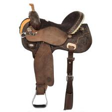 Circle Y Kenda Lenseigne Black Powder Mounted Shooter Saddle - TB