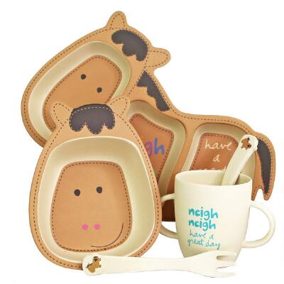 Bamboozled Holly Horse Shaped Infant-Toddler Dinner Set