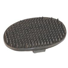 Oval Rubber Curry Comb with Handle - TB