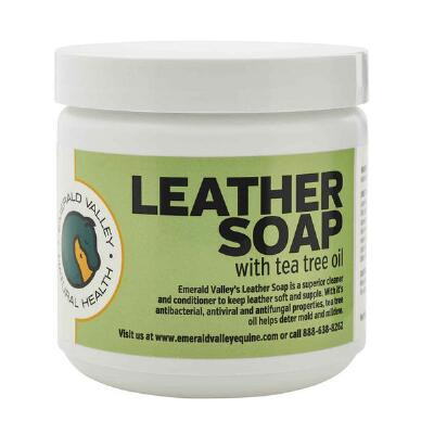 Emerald Valley Leather Soap with Tea Tree Oil 16 oz