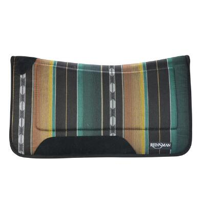 Square Contour Tacky Too Pattern Western Saddle Pad 30 X 30