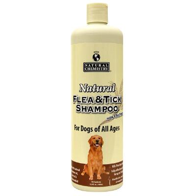 Natural Flea & Tick Shampoo with Oatmeal for Dogs 16 oz