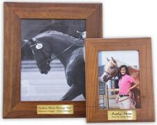 Walnut Picture Frame with Brass Plate - TB