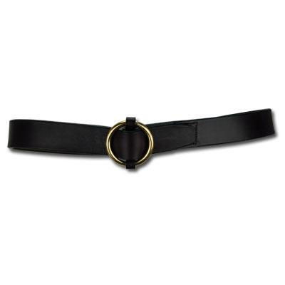 Brass Ring Buckle 1.75 Inch Havana Unisex Belt