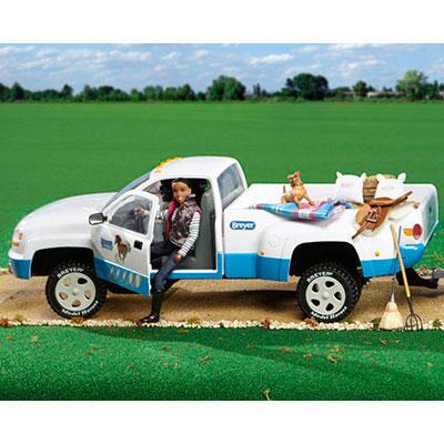 Breyer Traditional Series Dually Truck White and Blue