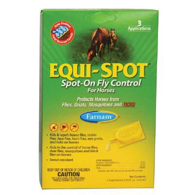 Farnam Equi-Spot Spot On Fly Protection 6-Week Supply - 3 Applications