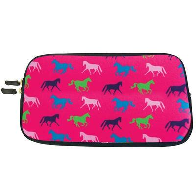 Horse Print Neoprene Zipper Accessory Bag