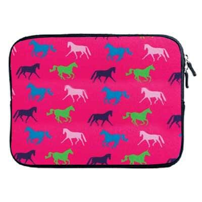 Horse Print Neoprene Zipper ipad Sleeve