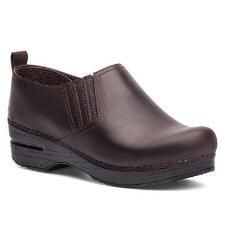 Dansko Piet Antique Brown Oiled Stapled Ladies Clog