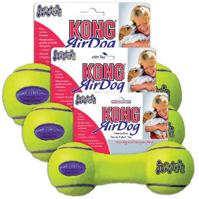Air Kong Squeaker Dumbbell Small