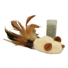 Kong Feather Mouse Cat Toy - TB