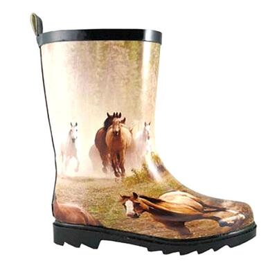 Smoky Mountain Running Horse Kids Rubber Boot